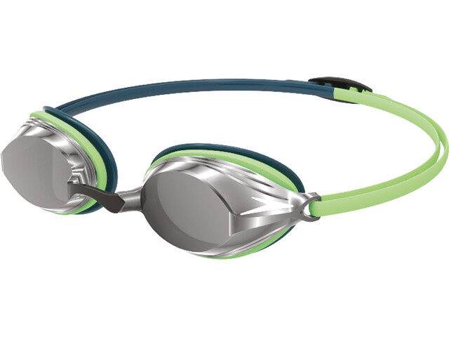 speedo Vengeance Mirror Goggles, nordic teal/green glow/silver